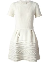 RED Valentino Patterned Knit Dress - Lyst