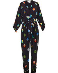 Stella McCartney Monia Superhero-print Jumpsuit - Black