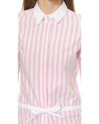 Maison Kitsuné - Joe Striped Dress - Pink Stripe - Lyst