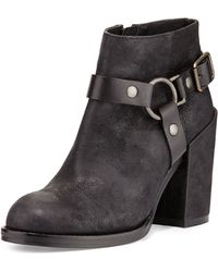 Ash Falcon Ring Strap Leather Ankle Boot - Lyst