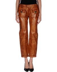 DSquared2 Brown Casual Pants - Lyst