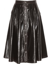Miu Miu Coated Skirt - Lyst