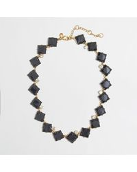 J.Crew Factory Stone Squares Necklace - Lyst