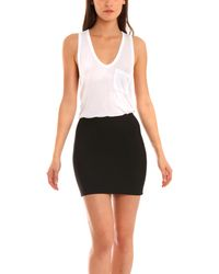 Hervé L. Leroux Mai Skirt In Black black - Lyst