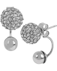 Kenneth Cole Sapphire Lights Crystal Back-front Earrings - Metallic