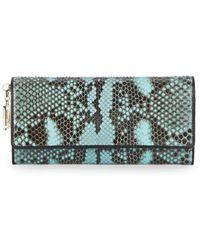 Versace Snakeskin Wallet blue - Lyst