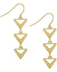 Sam Edelman Le Jardin Linear Earrings - Metallic