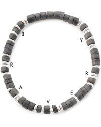 Lulu Frost G. Frost Wooden Morse Bracelet Grey gray - Lyst