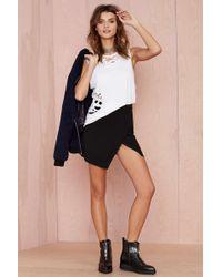 Nasty Gal Point Blank Asymmetric Skirt - Lyst