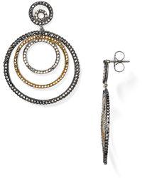 Roni Blanshay - Swarovski Crystal Circle Drop Earrings - Lyst