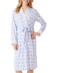 Carole Hochman - Printed Cotton Short Robe - Lyst