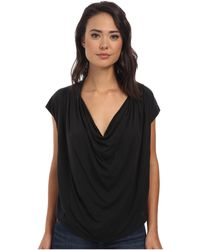 Free People Fantasy Jersey Cowl Tee - Lyst