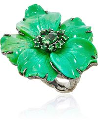 Lydia Courteille One Of A Kind Amazonia Ring - Lyst