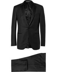 Canali Black Slim-fit Super 130s Wool Tuxedo - Lyst