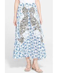 Stella McCartney Cloud Print Silk Skirt - Lyst