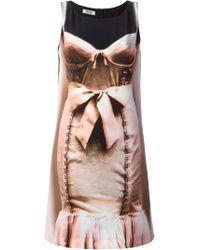 Moschino Cheap & Chic Printed Bodycon Dress - Lyst