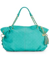 Big Buddha Clove Quilted Faux Leather Tote blue - Lyst