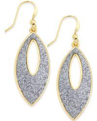 Style & Co. - Glitter Navette Drop Earrings - Lyst