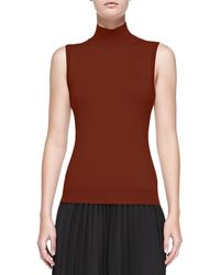 Theory Cashmere Staple Mock-Neck Sweater - Lyst