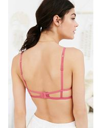 Silence + Noise - Cut-out Bra In Rose - Lyst