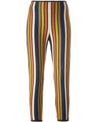 Jean Paul Gaultier Striped Leggings - Lyst