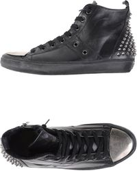 Leather Crown High-Tops & Trainers black - Lyst