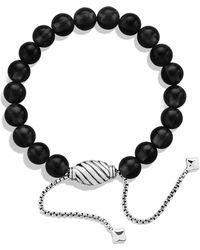David Yurman Spiritual Beads Bracelet With Black Onyx - Metallic