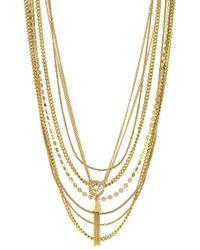 Vince Camuto Tassel Pendant Multi-Row Necklace - Lyst