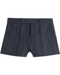 Polo Ralph Lauren Linen-Wool Pinstriped Shorts - Lyst