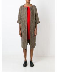 Daniela Gregis - Herringbone Wool Coat - Lyst