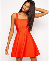 Tfnc Bardot Dress with Square Neck in Texture - Lyst