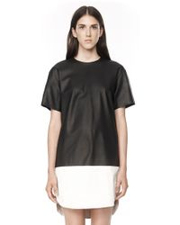 Alexander Wang Matte Lamb Dress with Foiled Hem - Lyst