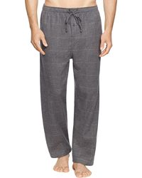 Ralph Lauren Polo Windowpane Flannel Pajama Pants - Gray