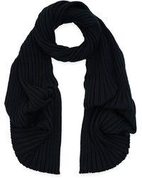 John Smedley - Dark Green Petteril Rib Knit Merino Wool Scarf - Lyst