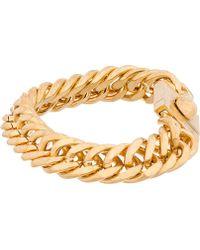 Alexander McQueen Gold_tone Skull Chain Bracelet - Lyst