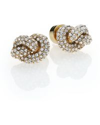 Michael Kors Brilliance Knots PavÉ Stud Earrings/Goldtone gold - Lyst