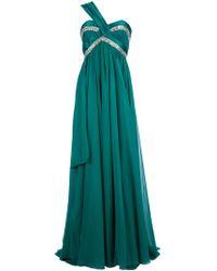Zuhair Murad Asymmetric Shoulder Strap Dress - Lyst