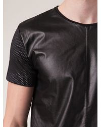Sons Of Heroes Leather Front Shirt black - Lyst