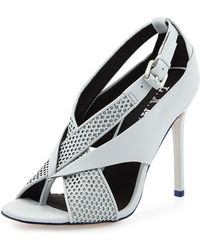 L.A.M.B. Beverlee Perforated Sandal - Lyst