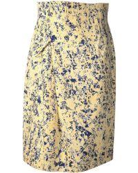 Jil Sander Royal B Printed Skirt - Lyst