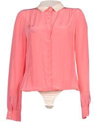 Patrizia Pepe Shirt pink - Lyst