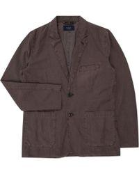Paul Smith | Men's Brown Garment-dyed Linen-blend Blazer | Lyst