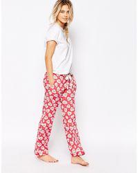 Cath Kidston - Lace Hearts Pyjama Bottom - Lyst