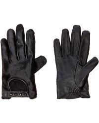 Maison Scotch - Leather Pony Hair Gloves - Lyst