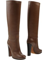 Celine Khaki Boots - Lyst