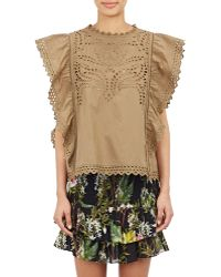 Etoile Isabel Marant Salvia Embroidered Top - Lyst