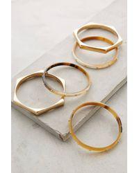 Anthropologie Honeycomb Horn Bracelet Set - Lyst