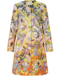 Mary Katrantzou A-Line Coat Discosoma Sunrise - Lyst