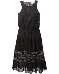 MICHAEL Michael Kors Lace-Trim Dress - Lyst