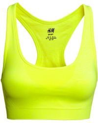 H&M Sports Bra Low Support yellow - Lyst